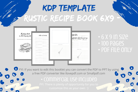 Print on Demand: KDP Interior - Rustic Recipe Book Graphic KDP Interiors By Tomboy Designs