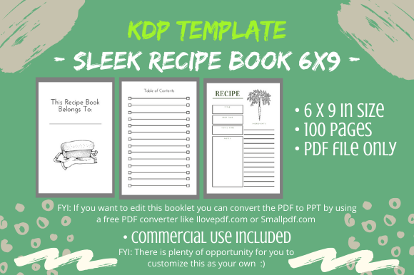 Kdp Interior Sleek Recipe Book Graphic By Tomboy Designs