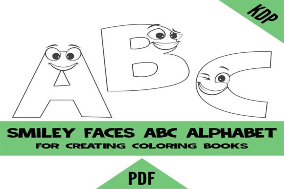 Print on Demand: KDP Smiley Face Alphabet Coloring Pages Graphic KDP Interiors By SunandMoon