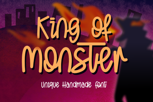 Print on Demand: King of Monster Display Font By DUMADI - Image 1