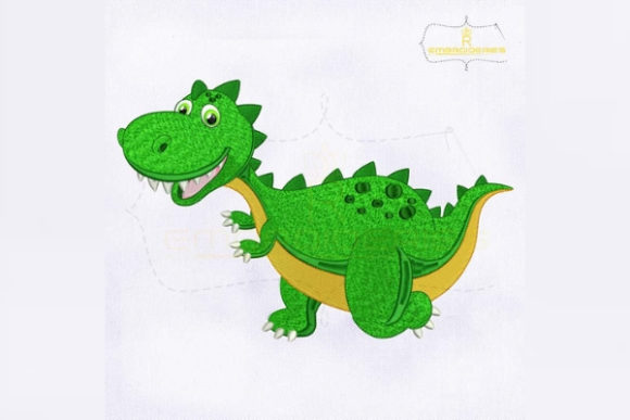 Little Baby Dragon Dinosaurs Embroidery Design By RoyalEmbroideries