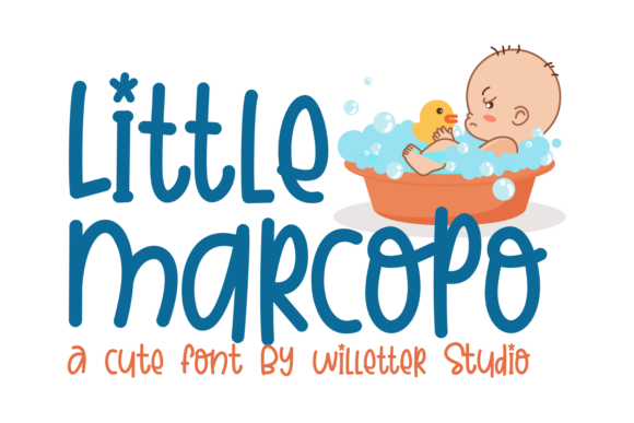 Print on Demand: Little Marcopo Display Font By Will Letter