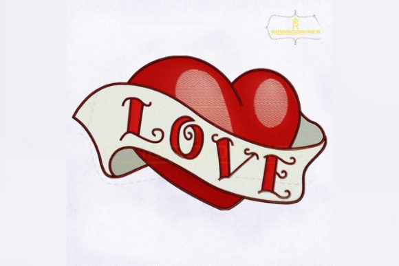 Lovely Heart Valentine's Day Embroidery Design By RoyalEmbroideries