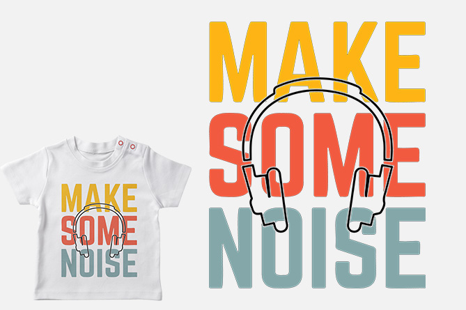 Download Free Make Some Noise Printable Graphic By Storm Brain Creative Fabrica for Cricut Explore, Silhouette and other cutting machines.