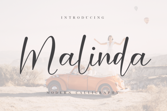 Print on Demand: Malinda Script & Handwritten Font By FatmaStudio
