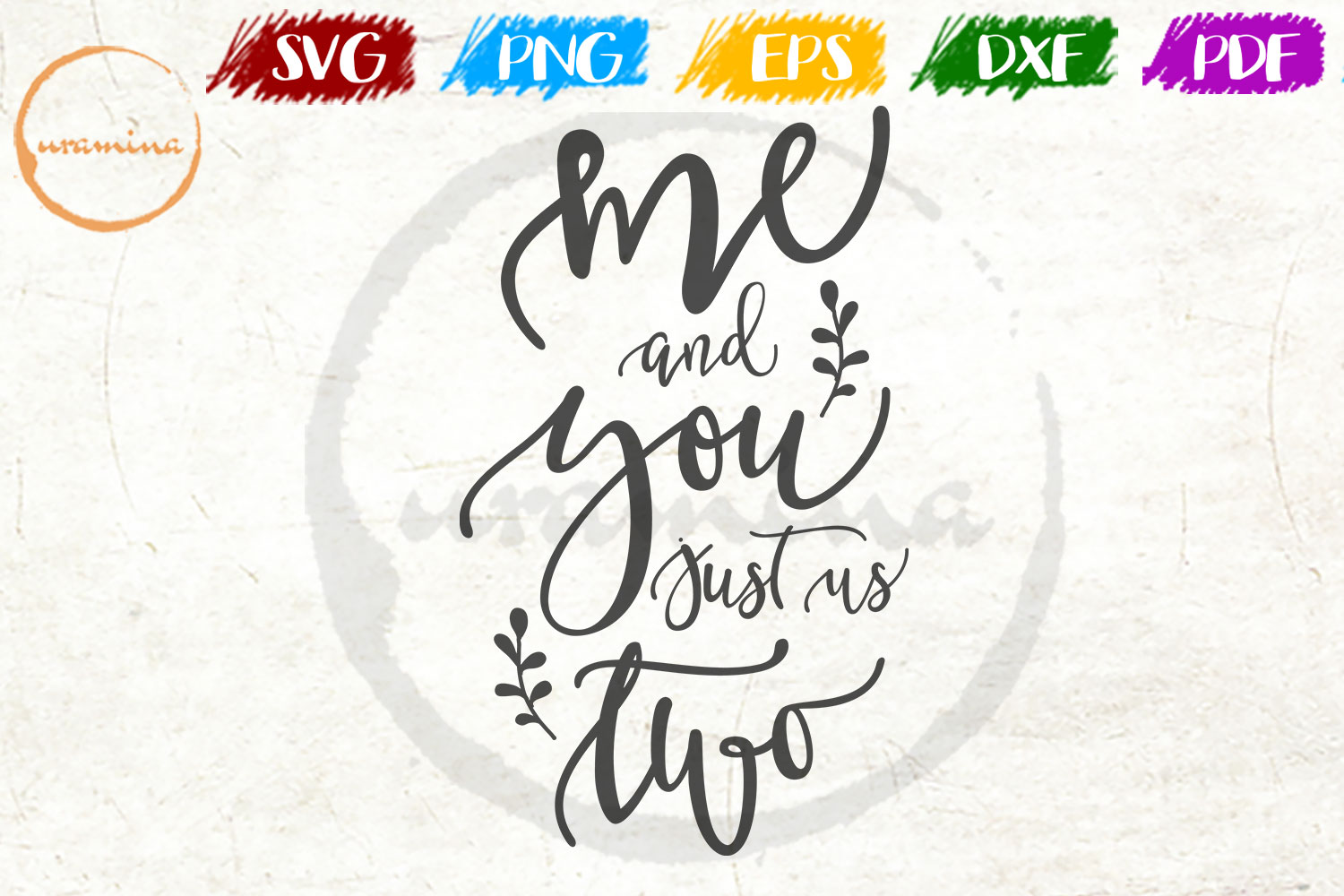 Download Free Me And You Just Us Two Grafico Por Uramina Creative Fabrica for Cricut Explore, Silhouette and other cutting machines.