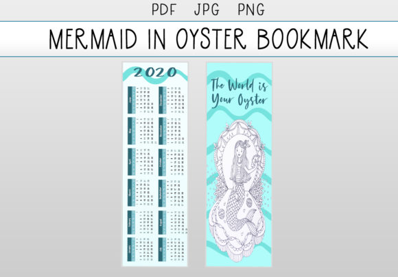 Download Free Mermaid In Oyster Zentangle Bookmark Graphic By Capeairforce for Cricut Explore, Silhouette and other cutting machines.