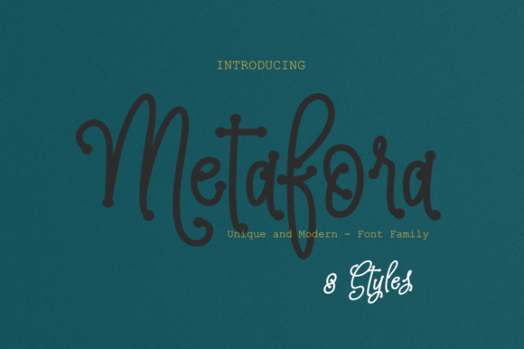 Print on Demand: Metafora Display Font By Artisans