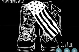 Print on Demand: Military Boots / American Flag Graphic Crafts By SomeFinnGraphics