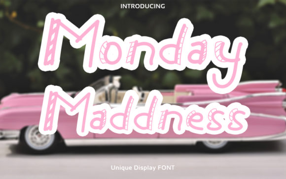 Print on Demand: Monday Maddness Display Font By Graph Arts
