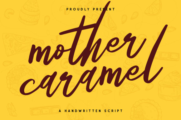 Download Free Mother Caramel Font By Runsell Graphic Creative Fabrica for Cricut Explore, Silhouette and other cutting machines.