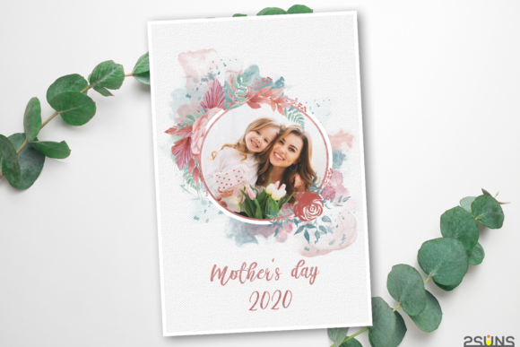 Mother's Day Digital Photoshop Template Graphic Print Templates By 2SUNS