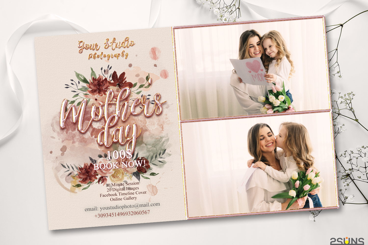 Download Free Mother S Day Digital Photoshop Template Graphic By 2suns for Cricut Explore, Silhouette and other cutting machines.