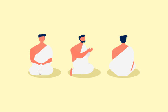 Muslim People Pray Graphic Illustrations By griyolabs