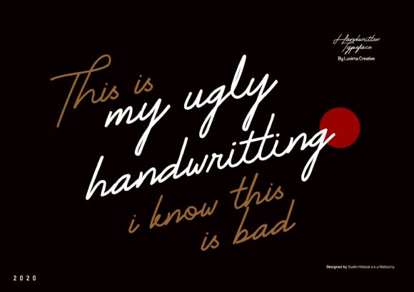Print on Demand: My Ugly Handwritting Manuscrita Fuente Por Luxima Creative