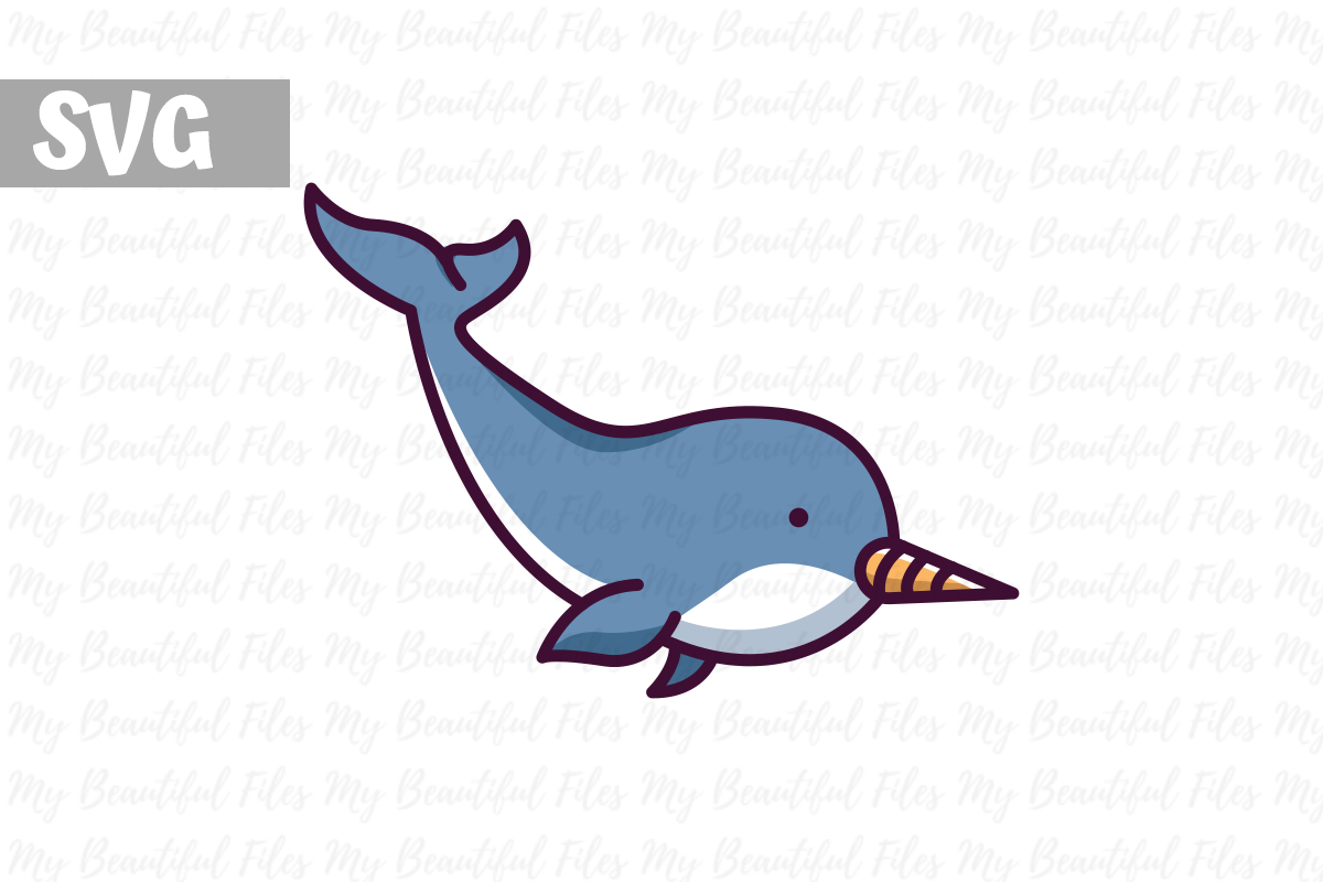 Download Free Narwhal Graphic By Mybeautifulfiles Creative Fabrica for Cricut Explore, Silhouette and other cutting machines.