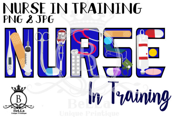 Download Free Nurse In Training Graphic By Bellauniqueprintique Creative Fabrica for Cricut Explore, Silhouette and other cutting machines.