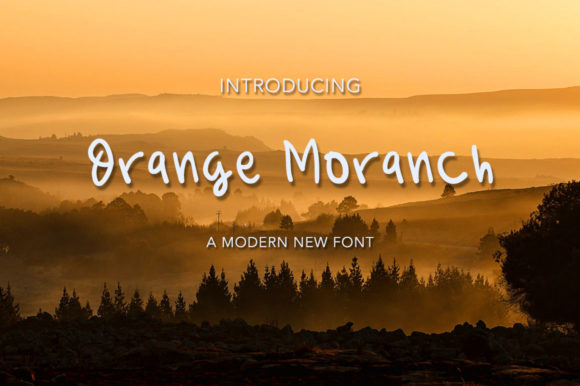 Download Free Orange Moranch Font By Morningmondayy Creative Fabrica for Cricut Explore, Silhouette and other cutting machines.
