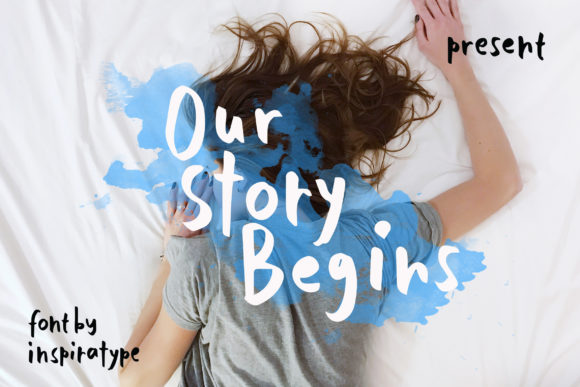 Print on Demand: Our Story Begins Script & Handwritten Font By InspiraType