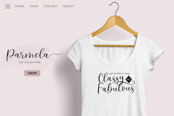 Download Free Parmela Font By Bhadalfilestudio Creative Fabrica for Cricut Explore, Silhouette and other cutting machines.