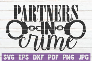 Download Free Partners In Crime Graphic By Mintymarshmallows Creative Fabrica for Cricut Explore, Silhouette and other cutting machines.