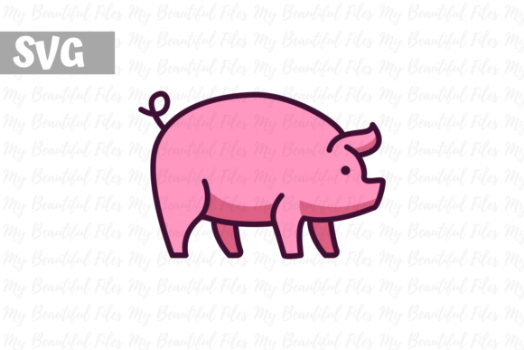 Print on Demand: Pig   Graphic Icons By MyBeautifulFiles