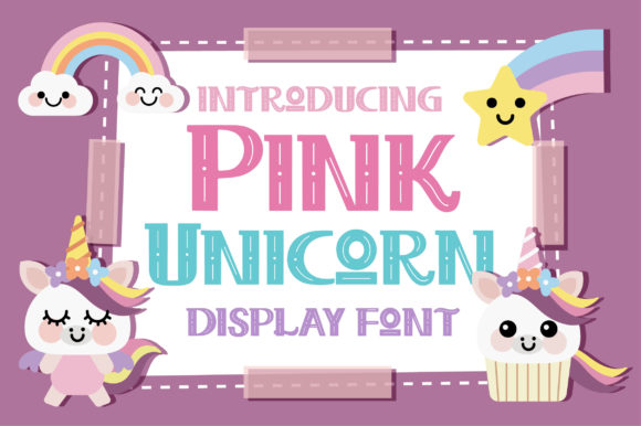 Print on Demand: Pink Unicorn Display Font By Caoca Studios