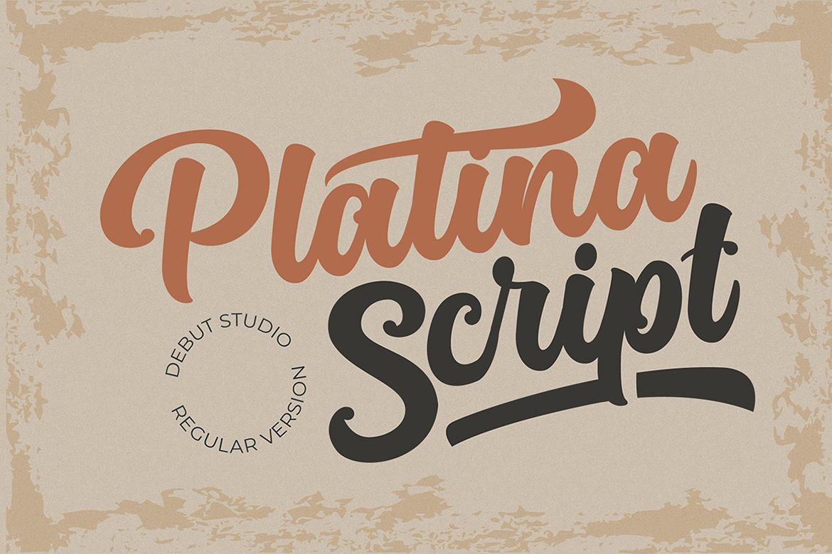 Download Free Platina Script Regular Font By Debut Studio Creative Fabrica for Cricut Explore, Silhouette and other cutting machines.