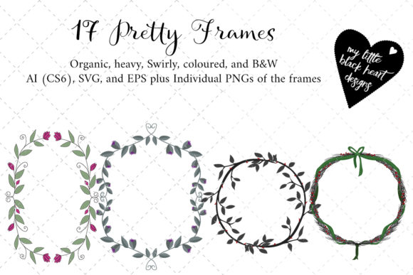Pretty Little Frames Graphic Illustrations By My Little Black Heart