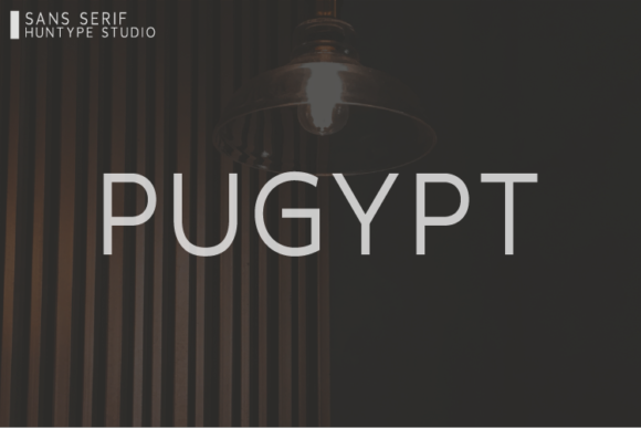 Download Free Pugypt Font By Huntype Creative Fabrica for Cricut Explore, Silhouette and other cutting machines.