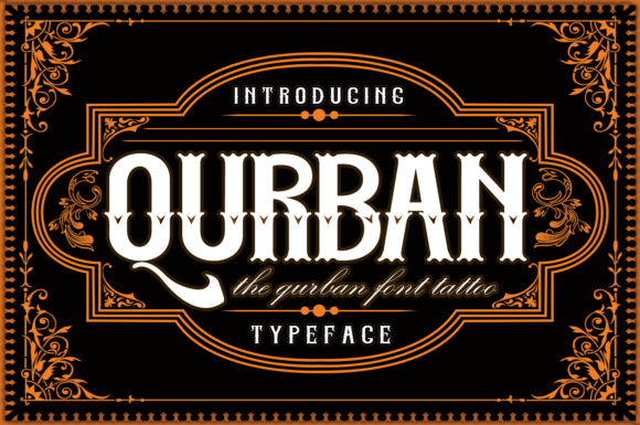 Print on Demand: Qurban Blackletter Font By aneukmuda190