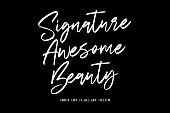 Download Free Rabbit Oaks Font By Maulana Creative Creative Fabrica for Cricut Explore, Silhouette and other cutting machines.