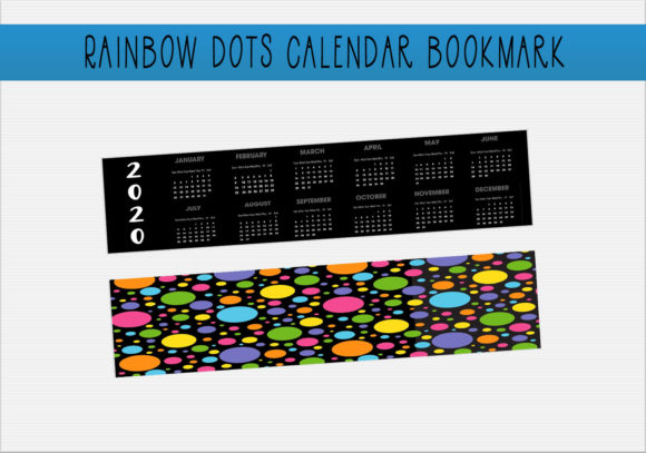 Download Free Rainbow Calendar Bookmark Graphic By Capeairforce Creative Fabrica for Cricut Explore, Silhouette and other cutting machines.