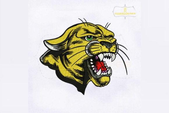 Roaring Cougar Wild Animals Embroidery Design By RoyalEmbroideries
