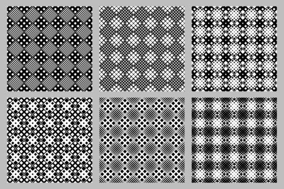 Download Free Seamless Rounded Square Pattern Set Graphic By Davidzydd for Cricut Explore, Silhouette and other cutting machines.