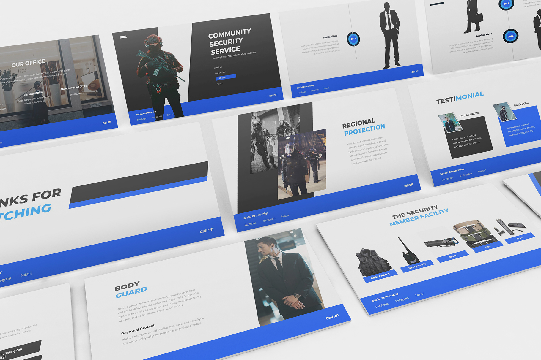 Download Free Security Guard Powerpoint Template Graphic By Formatikastd for Cricut Explore, Silhouette and other cutting machines.
