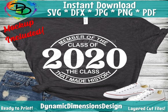 Senior 2021 the Class That Made History SVG, PNG, EPS & DXF by Free SVG File