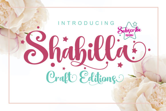 Print on Demand: Shabilla Script & Handwritten Font By Cotbada Studio