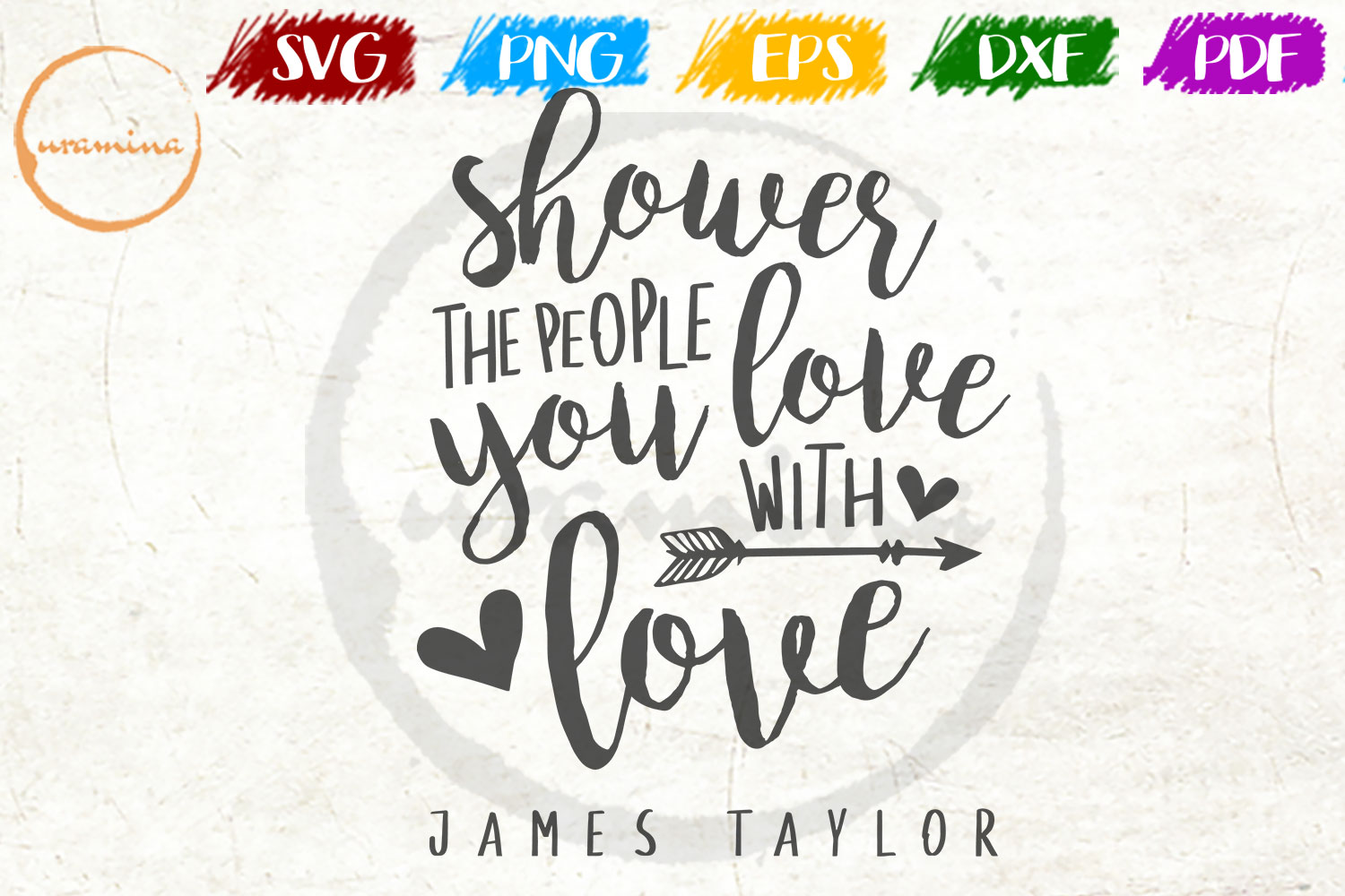 Shower The People You Love With Love Graphic By Uramina