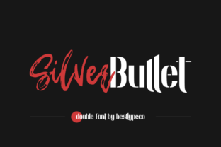 Print on Demand: Silver Bullet Script & Handwritten Font By besttypeco
