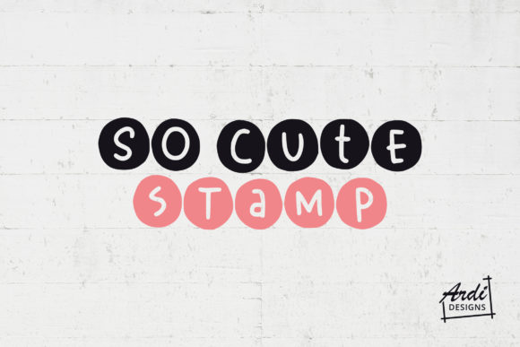 Print on Demand: So Cute Display Font By ArdiDesigns