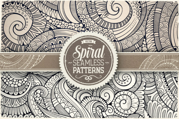 Spiral Seamless Patterns Graphic Patterns By BalabOlka