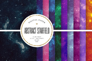 Print on Demand: Starfield Backgrounds - Outer Space Graphic Backgrounds By Sabina Leja