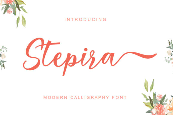 Print on Demand: Stepira Script & Handwritten Font By gatype