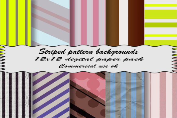 Striped Pattern Backgrounds Graphic By A Design In Time