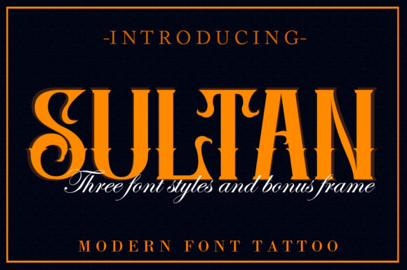 Print on Demand: Sultan Blackletter Font By aneukmuda190