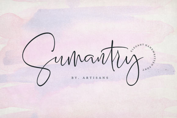 Print on Demand: Sumantry Script & Handwritten Font By Artisans