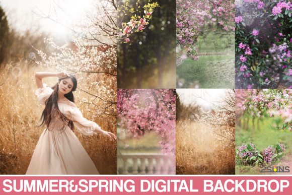 Summer Backdrop, Photoshop Overlay Graphic Actions & Presets By 2SUNS