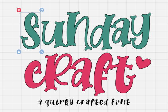 Print on Demand: Sunday Craft Display Font By Azetype