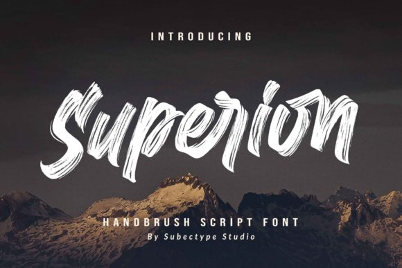 Print on Demand: Superion Script & Handwritten Font By Subectype
